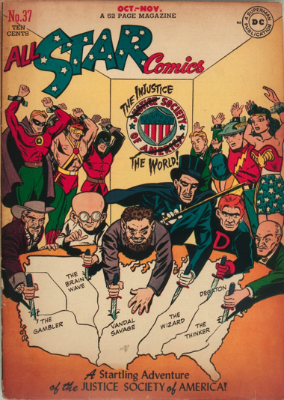 Origin and First Appearance, Injustice Society, All-Star Comics #37, October, 1947. Click for values