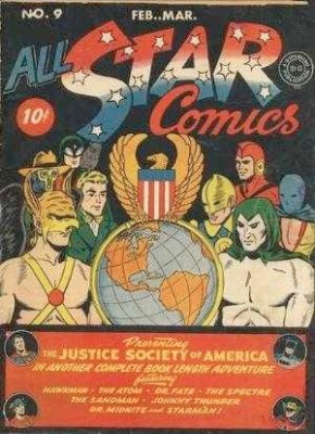 Click to check the value of the Golden Age comic, All-Star Comics #9