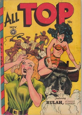 All-Top Comics #14: Matt Baker cover. Click for prices
