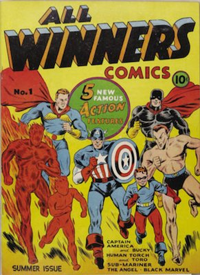 All-Winners Comics #1 (1941): 1st All-Winners Squad. Click for values