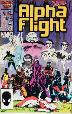 Origin and First Appearance, Lady Deathstrike, Alpha Flight #33, Marvel Comics, 1986. Click for value