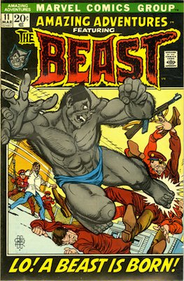 Amazing Adventures #11 (1972): First Appearance of Furry Beast. Click for values