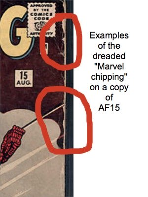 Marvel Chipping is very common on AF15. Click for values