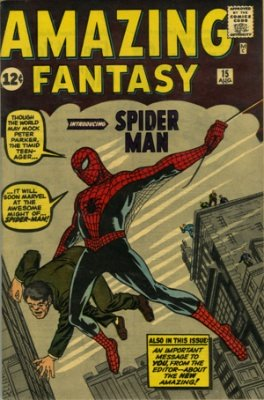 Hot Comics #5: Amazing Fantasy #15, 1st Spider-Man. Click to buy a copy