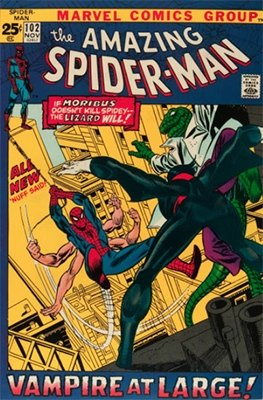 Amazing Spider-Man #102: Origin of Morbius the Living Vampire. Click to buy a copy