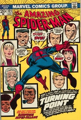 Amazing Spider-Man #121; Death of Gwen Stacy. Click here to see current values