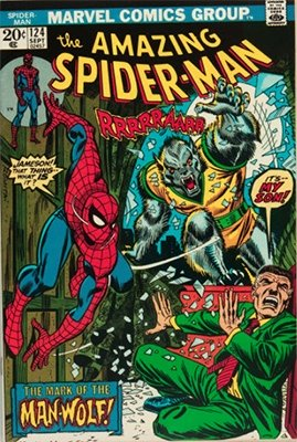 Amazing Spider-Man #124, first appearance of Man-Wolf. Click here to see current values