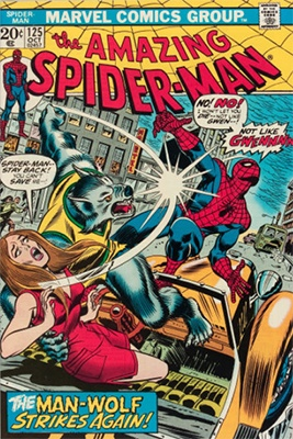 Amazing Spider-Man #125, origin of Man-Wolf. Click here to see current values