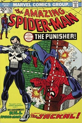 Spiderman Villains List: 1st Punisher, ASM #129. Click for values