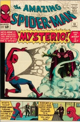 Origin and First Appearance, Mysterio, Amazing Spider-Man #13, Marvel Comics, 1964. Click for value