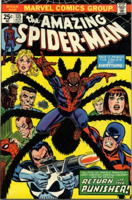 Amazing Spider-Man #135: Second appearance of the Punisher. Click for values
