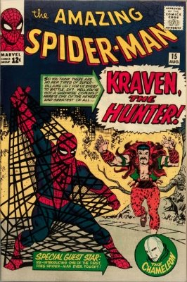 #12: Kraven the Hunter, Amazing Spider-Man #15 CGC 7.0, $800-$900. Click for values