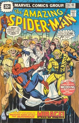 Amazing Spider-Man #156 30 Cent Price Variant May, 1976. Starburst Blurb