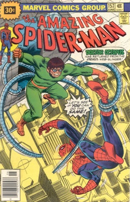 Amazing Spider-Man #157 30 Cent Price Variant June, 1976. Starburst Blurb