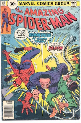 Amazing Spider-Man #159 30 Cent Price Variant August, 1976. Circle Blurb