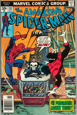 Amazing Spider-Man #162 (Marvel, 1976): Punisher/Spider-Man/Nightcrawler Team-up; First appearance of Jigsaw. Click for values