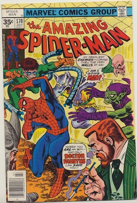 Amazing Spider-Man #155 30 Cent Price Variant April, 1976. Starburst Blurb