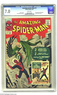Amazing Spider-Man #2 gets expensive in high grade. We recommend a CGC 7.0 copy, which is about the same price as a 6.5 but much cheaper than a 7.5 or 8.0. Click to buy yours