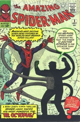 Origin and First Appearance, Doctor Octopus, Amazing Spider-Man #3, Marvel Comics, 1963. Click for value