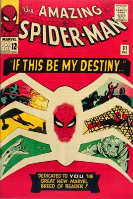 Origin and First Appearance, Harry Osborn, Amazing Spider-Man #31, Marvel Comics, 1965. Click for value