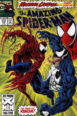 Amazing Spider-Man #378: Carnage vs Venom!. Click for values