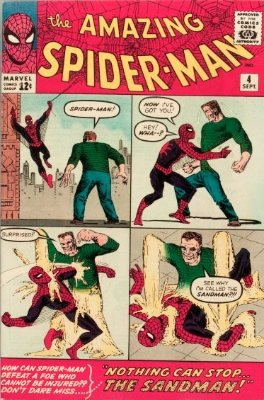 Amazing Spider-Man #4 (Sept 1963): Origin and First Appearance, Sandman. Silver Age Comics #15. Click for values