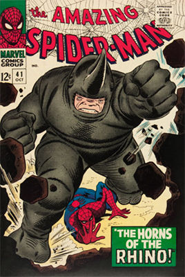 Spiderman Villains List: ASM #41 1st Rhino. Click for values