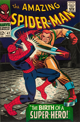 Origin and First Appearance, Mary Jane Watson, Amazing Spider-Man #42, Marvel Comics, 1966. Click for value