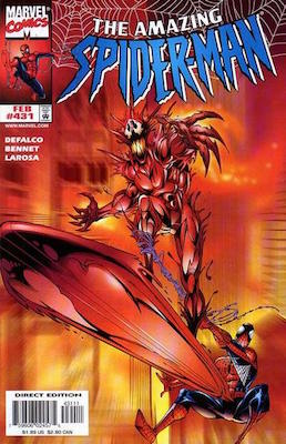 Amazing Spider-Man #431: Carnage and Silver Surfer. Click for values