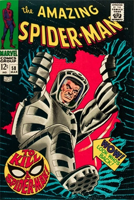 Click here to find out the current market values of Amazing Spider-Man #58