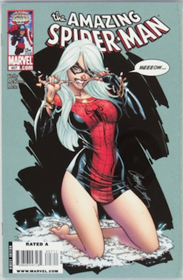 Hot Comics #100: Amazing Spider-Man #607, Black Cat Cover by J. Scott Campbell. NEW ENTRY FOR 100 HOT COMICS 2017. Click to buy a copy