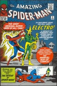 A typical vintage comic book from the silver age