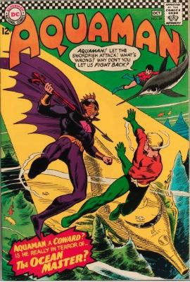 Origin and First Appearance, Ocean Master, Aquaman #29, DC Comics, 1966. Click for value