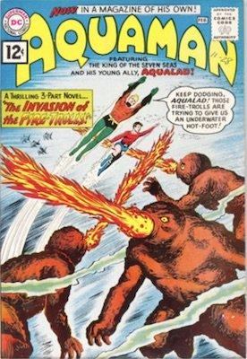 Aquaman #1: First solo book. Click for values