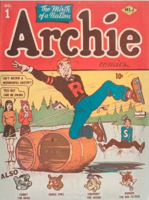 Archie Comics #1 (January 1942): Scarce First Issue. Record sale: $167,000. Click for appraisal