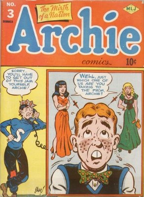 Archie Comics #3. Scarce in any condition. Click for values