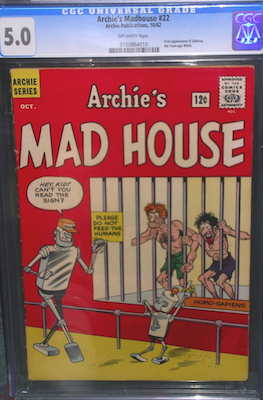Archie's Madhouse #22 is a rare book, with only 43 examples graded by CGC. You may have to get what you can find. Stick to nice CGC 5.0 or above. Click to buy