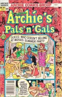 Archie's Pals and Gals #161: First solo Cheryl Blossom story. Click for values