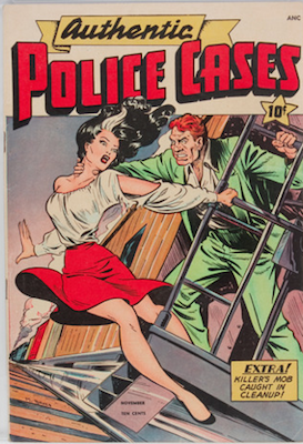 Authentic Police Cases #6: Matt Baker cover. Click for values