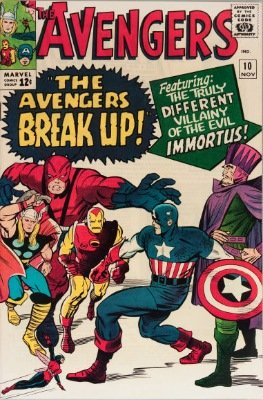 Avengers #10: First Appearance of Immortus. Click for value