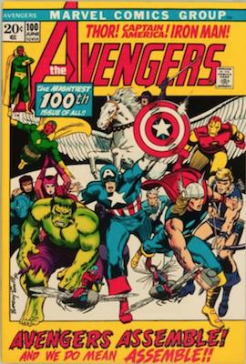 Avengers comic #100: all past team members appear