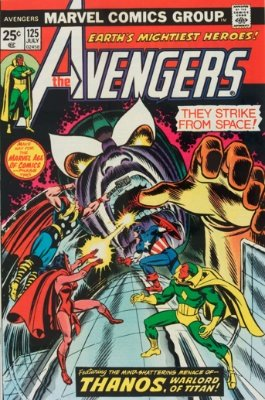 Thanos  fever has driven up the price of Avengers #125