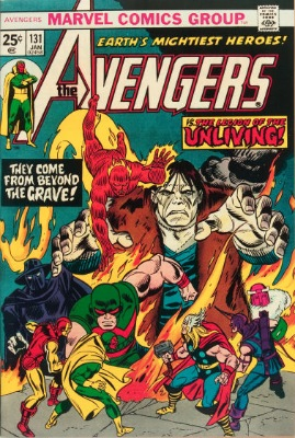 Origin and First Appearance, Legion of the Unliving, Avengers #131, Marvel Comics, 1975. Click for value