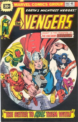 Avengers #146 30 Cent Price Variant April, 1976. Starburst Blurb
