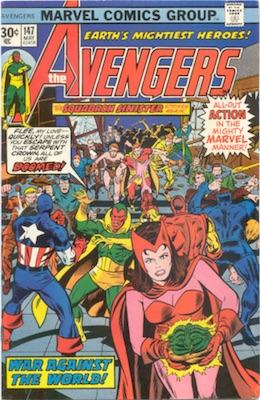 Avengers #147 30 Cent Price Variant May, 1976. Regular Blurb