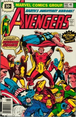 Avengers #148 30 Cent Price Variant June, 1976. Starburst Flash