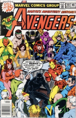 Wasp Marvel comics: Avengers #181. 1st appearance of Scott Lang; Falcon joins the team. Click for values