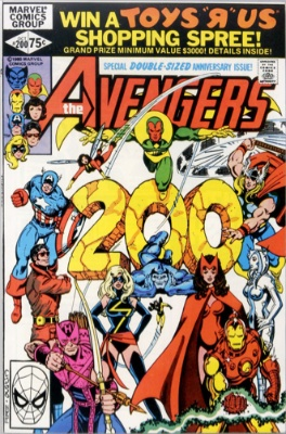 Carol Danvers (Carol Danvers Kidnapped, The Avengers #200, October 1980). Click for value