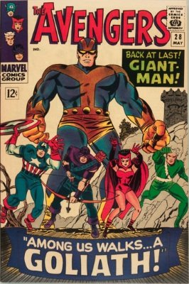 Avengers Comic #28: First Appearance of Collector; Giant-Man Becomes Goliath. Click for values