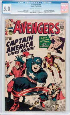 Avengers #4 CGC 5.0 Value?